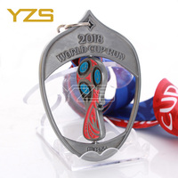 OEM friendly zinc alloy rotating 5km World cup run metal sports medal