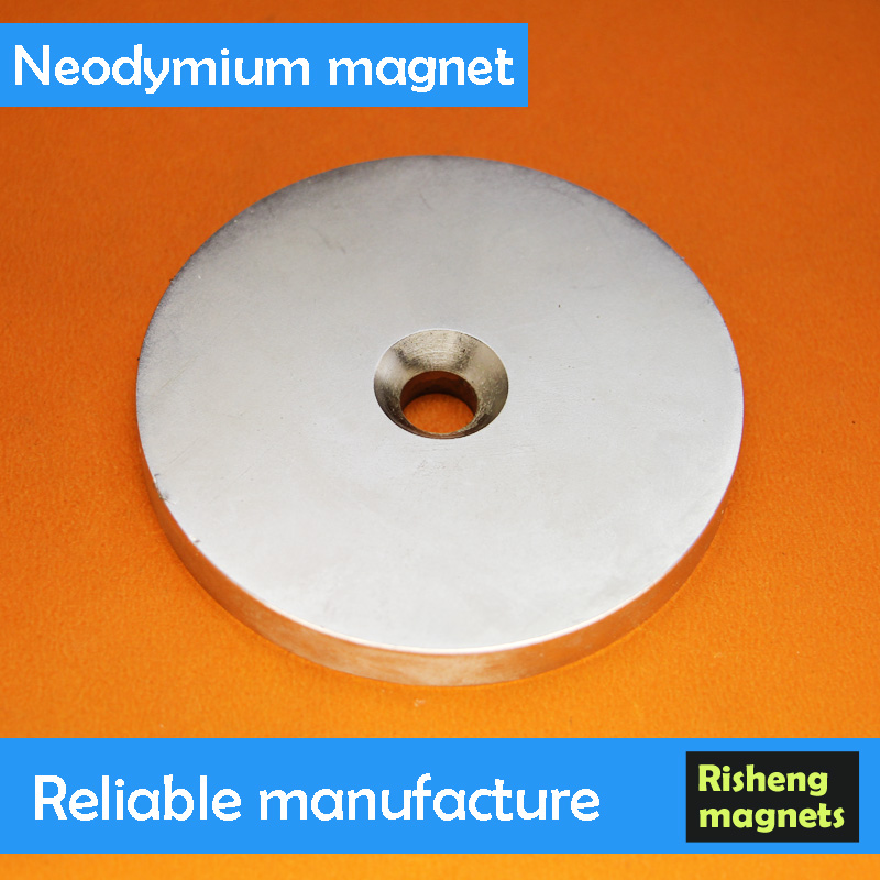 80 Degree Temprature Magnets Ring Shape Neodymium Magnets Magnet with Screw Hole