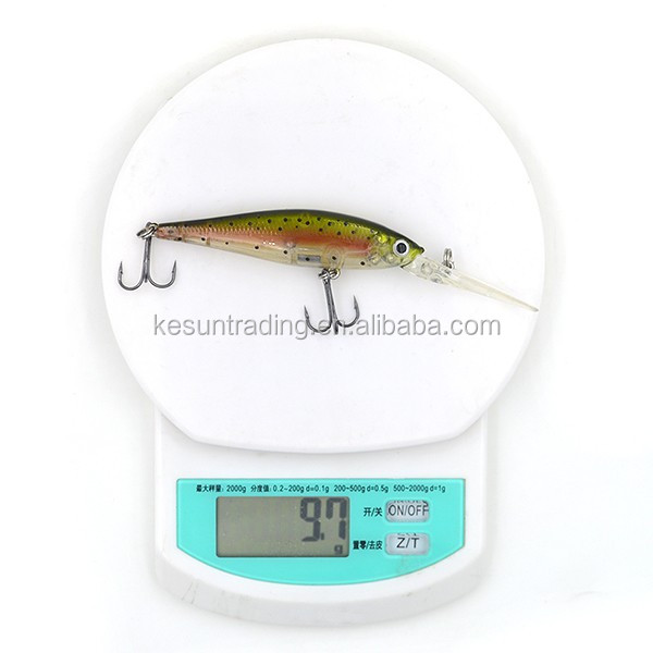 5colors CHMN36 long-wide lip shad hard fishing lure from Chinese manufacturer