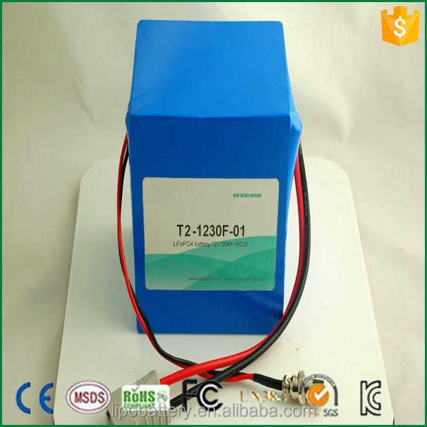 Rechargeable Lifepo4 26650 4S10P 12v 30ah lithium battery pack for solar storage