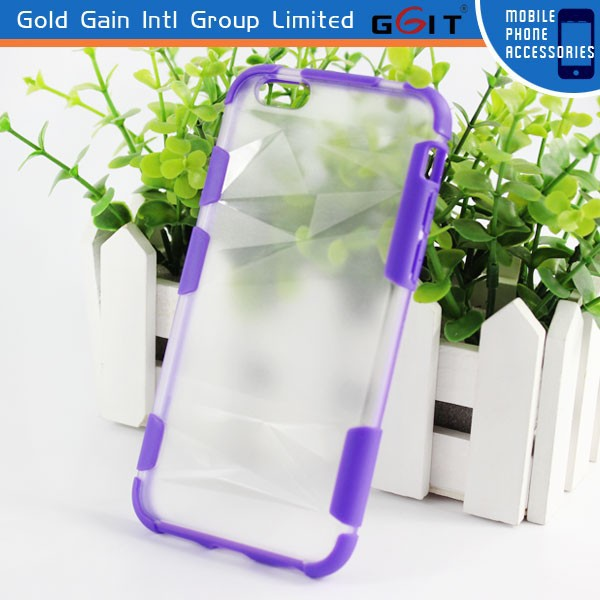 Acrylic Bumper TPU Case For iPhone 6 Plus
