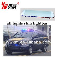 Emergency slim green ,orange,red ,blue LED warning light bar, wireless warning boat light ,high power led source