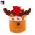 Drawstring Gift Bag Plush Moose Sacks for Christmas Decoration