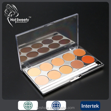 10colors professional waterproof concealer palette makeup oem face foundation cream