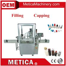 MTFC-1000 Hot Sale Automatic Small Oil Filling Plugging-In Capping Machine
