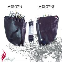 4 Pairs of Scissors Brown Color Professional Hair Scissor Pouch Holster