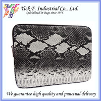 Elegant Snake Pattern PU Leather tablet sleeve / tablet pouch