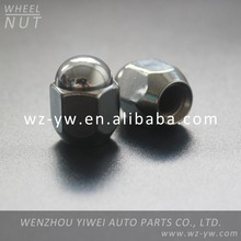 Chrome Closed End Bulge Acorn Locking Lug Nuts Wheel Lock
