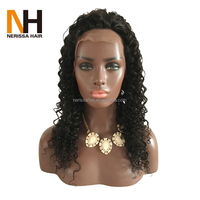 Afro Wave High Quantity 100 Percent Indian Remy Human Hair Lace Front Wig Baby Hair