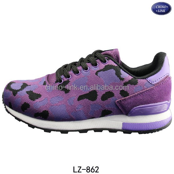 Name brand best quality flying knitted women sport shoes