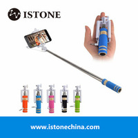 gift for christmas promotion cheapest cable wired selfie stick OEM monopod