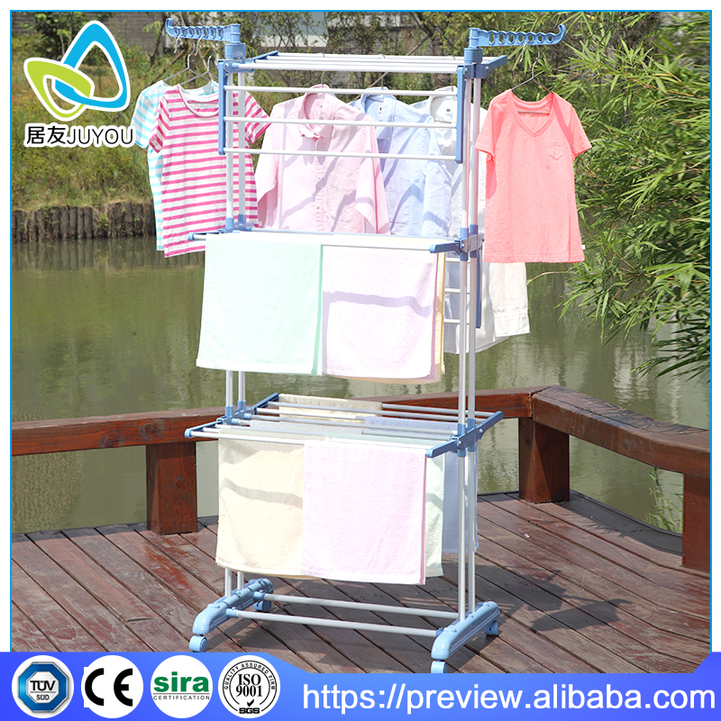 retractable rolling stand clothes hanger rack