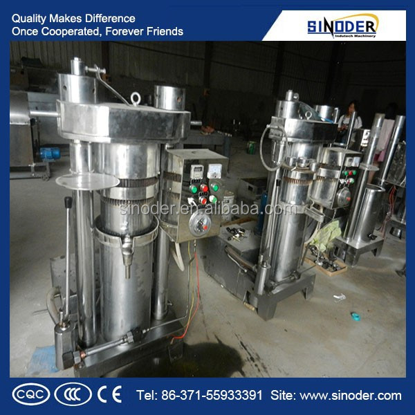 cooking oil making machine/ hydraulic olive oil press with large output