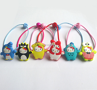 wholesale factory price soft pvc hair rope cartoon rubber hair bands