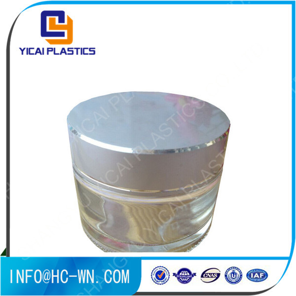 Professional made <strong>good</strong> quality fashional design glass cream jar