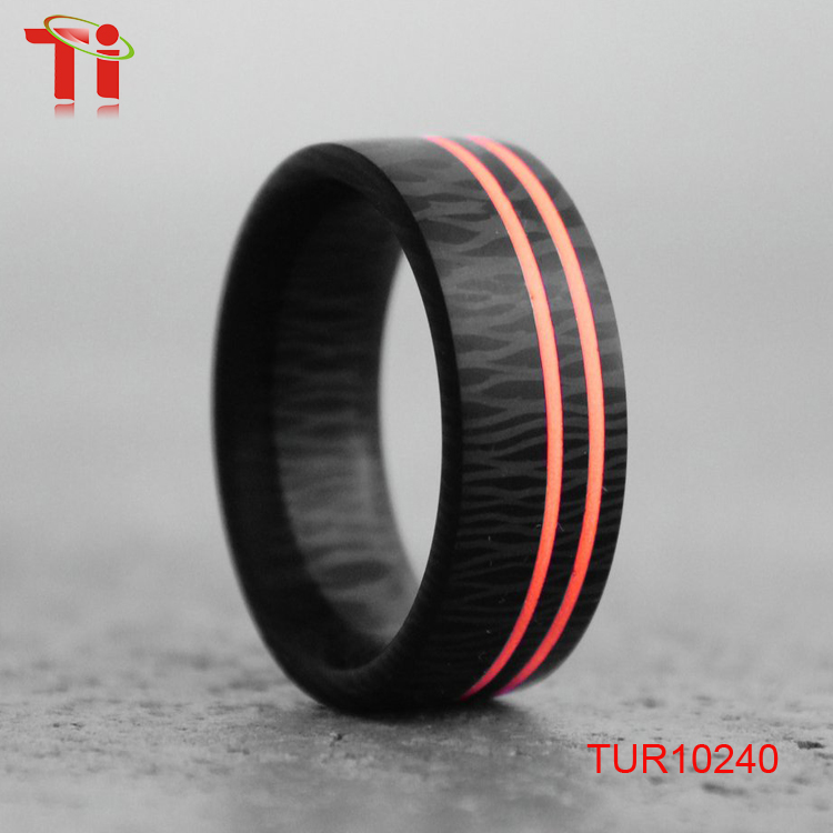 High Density Luminescent Glow Resin Inner Carbon Fiber ring To Be Brighter and Glow Longer
