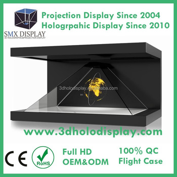 China Manufacturer 3D Hologram Showcase Holographic Pyramid Box