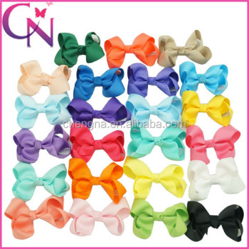 "Wholesale 3"" Grosgrain Ribbon Kids Hair Bows CNHBW-14022202"