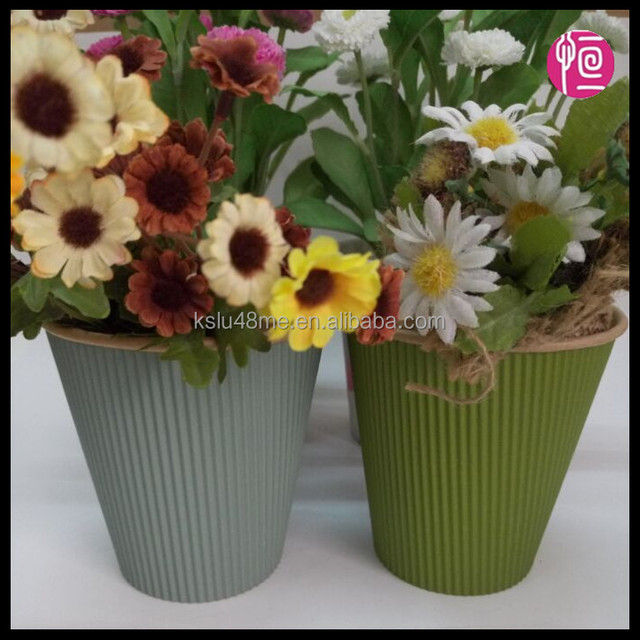 China Supplier High-quality Paper Round Fower Box/Wholesale Ripple Wall Fower Pots for Inner Unbleached Kraft Paper
