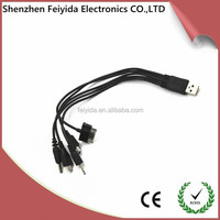 High quality plastic led and 30-pin cables to USB