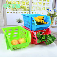 colorful plastic fruit baskets Overlay organized tidy for your kitchen