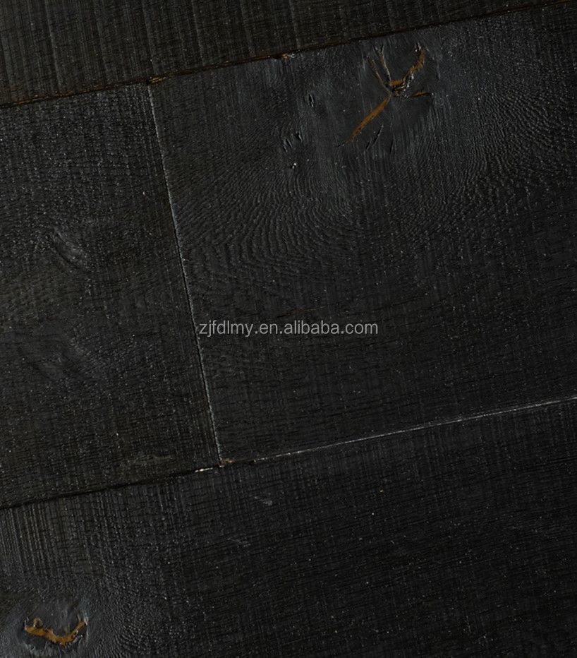 smoked oiled black <strong>oak</strong> engineered wood flooring