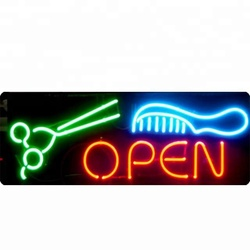 OPEN logo letters light signs neon light with Chinese factory price for coffee bar
