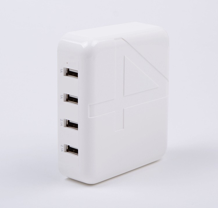 30W USB Power Adapter Multifunction Phone Charger 4 Outlet 5V 6A USB Wall Charger With EU AU UK US plug