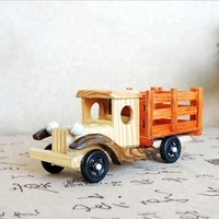 Gift Bamboo FolHand Craft Aritificial Toy Wooden Truck Craft