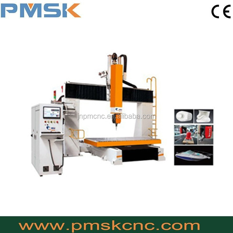 Factory manufaturer wood cnc engraving machine for wood,foam,good price PM 1224 5 axis cnc router