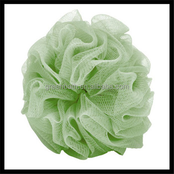 China flower bath puff mesh bath sponge wholesales