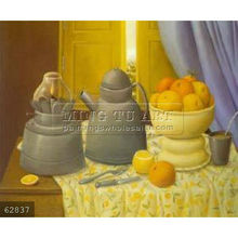 Handmade Fernando Botero still life oil painting, Still Life With Lamp 1997