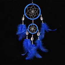 Best selling cheap shell and Feather Dreamcatcher for car and home