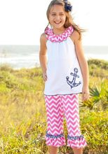 2017 wholesale children summer anchor tunic top clothing