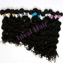 Malaysian hair easy clips on hair extensions in human hair
