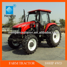 Farm tractor with tractor cabin