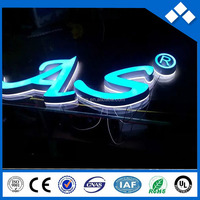 Ice blue seiko mini led channel letter/ logo sign for shop