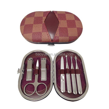 7pcs manicre set into PU case