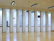Auditorium accordion partition door operable soundproof partition folding doors with modern design