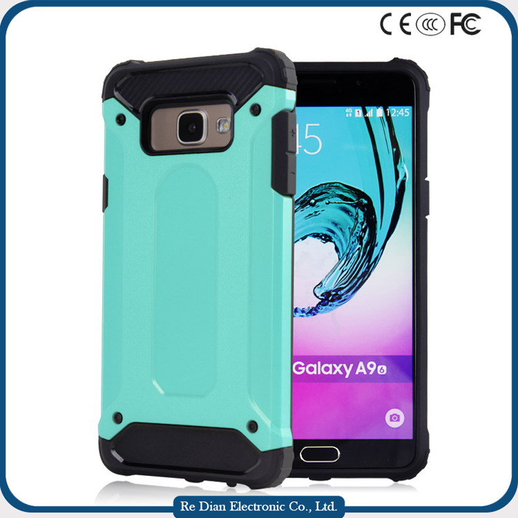 Two pieces detachable dual layer color Slide PC Hard Case card holder case cell phone case for samsung A9