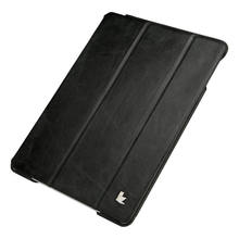 For ipad Air 2 cover leather case with wake up and sleep function & real leather