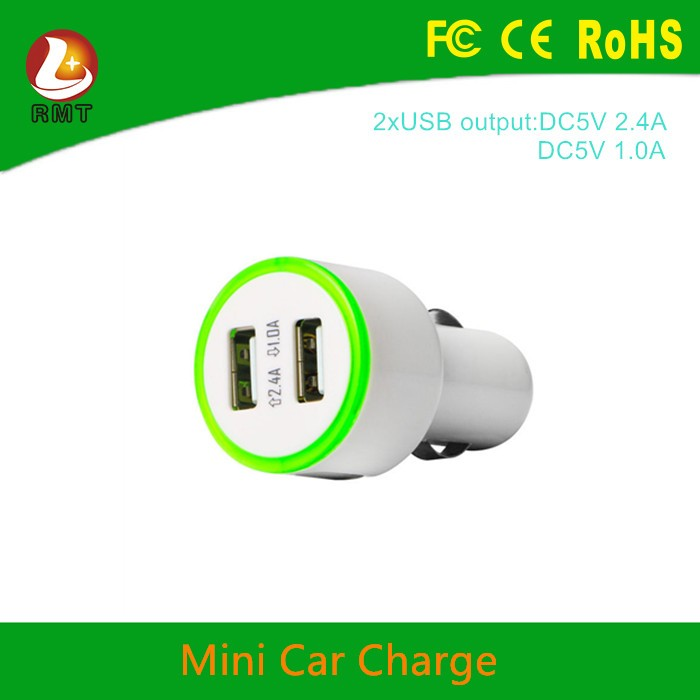 Mobile Phone Use and Electric Type 12v/24v mini usb car charger 2 port