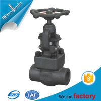 ANSI standard forged PYL brand gas oil manual operated gate valve