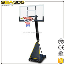 professional portable glass basketball stand