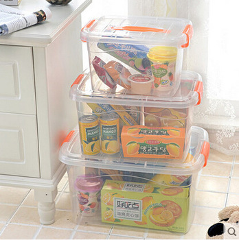 Chinese supplier high quality plastic household transparent plastic storage box