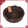 Large size fruit vegetable used cheap wholesale plastic wicker baskets with handles