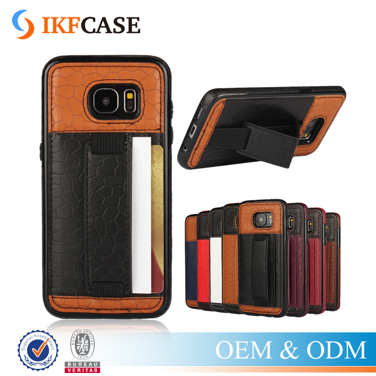 Stylish Hand Belt Football Pattern PU Leather & PC Phone Accessory Case for Samsung Galaxy S7 Edge
