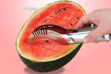 Watermelon Slicer Cutter Corer & Server - Multipurpose All In One Stainless Steel Knife - Melon & Fruit Slicer
