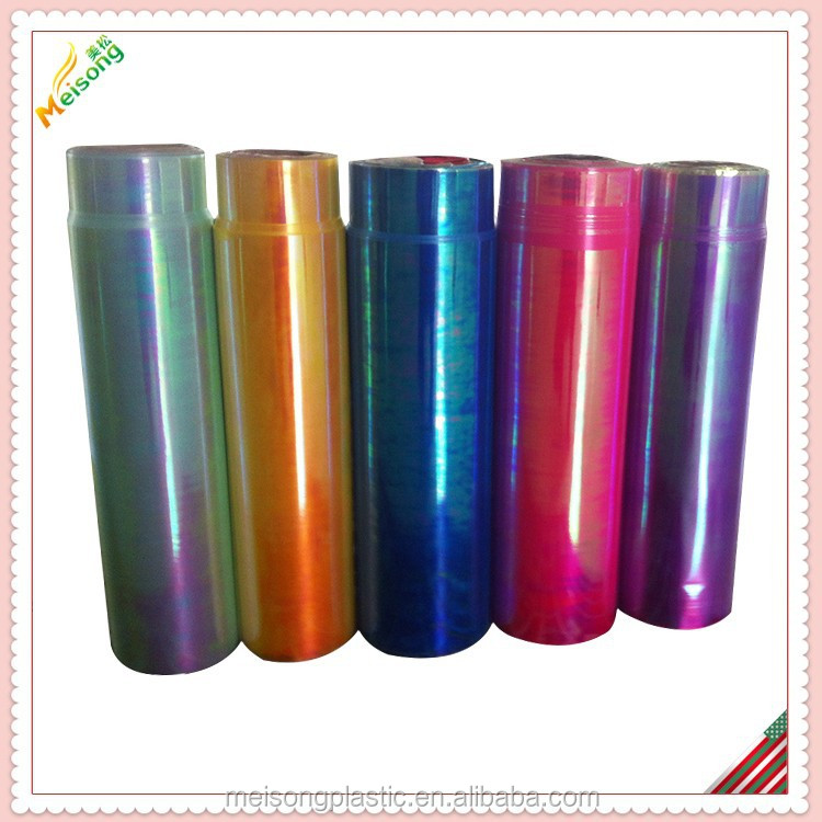 Iridescent poly ribbon film material
