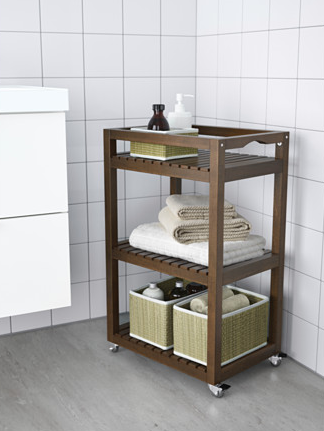 new arrival bathroom trolley 3 tiers bathroom storage corner shelf wheels added towel rack